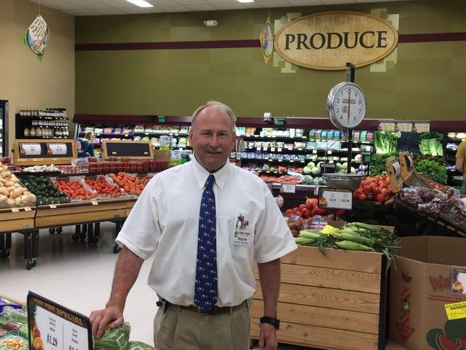Wayne Krueger, retiring owner of Wayne's Piggly Wiggly in Winneconne.