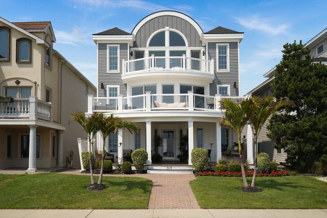 309 Ocean Ave in Belmar is an oceanfront dream house.