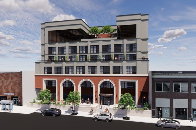 A rendering of the Restoration on Patton hotel in downtown Asheville.