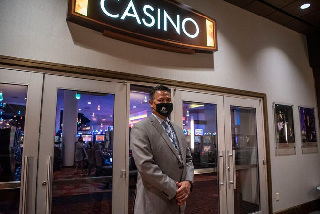 Vice President of Human Resources Frank Tecumseh stands for a portrait during a job fair at FireKeepers Casino Hotel on Tuesday, Aug. 25, 2020 in Battle Creek.