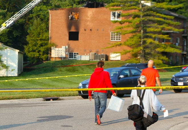 A fire in a Fairfield apartment building Tuesday has displaced dozens of people.