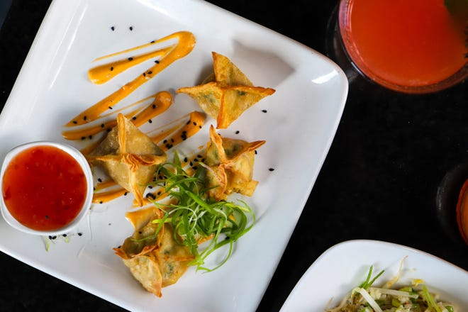 Pan-Asian restaurant PAO Detroit celebrated its one-year anniversary by adding new menu items, including this house-made crab Rangoon.