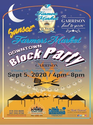 Downtown Fremont Inc. will be have the Croghan Colonial Bank Farmers Market and The Garrison Restaurant Downtown Block Party Event from 4 to 8 p.m. Sept 5. The event will be on Front Street  from Croghan Street to Ewing Street. Attendance to the farmers market will be free to the public.