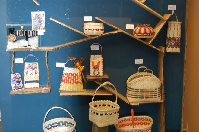 Turtle Island Gifts in Ashwaubenon now carries handmade baskets from the Oneida Basket Guild.