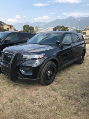 One of six new fully equipped police vehicles the Sheriff's Office is purchasing for use by deputies. The Cascade County Sheriff's Office decal has not been fix yet on the vehicles.