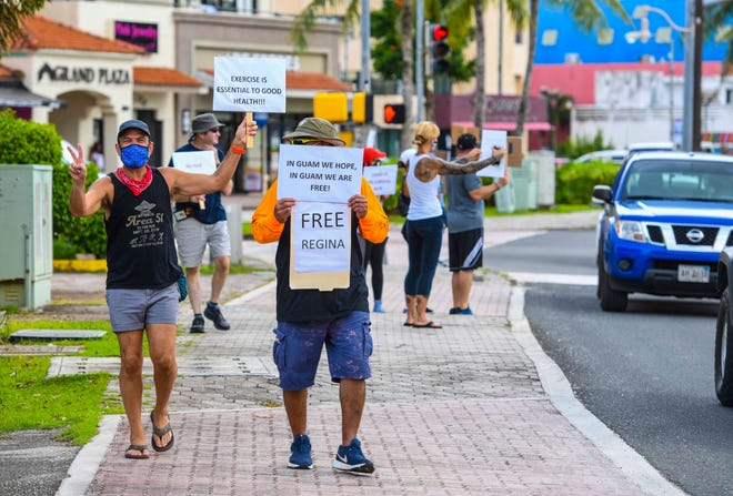 Another anti-lockdown demonstration, like this one on Aug. 25, is planned for Thursday afternoon. The previous peaceful demonstration  was in response to Gov. Lou Leon Guerrero's renewal of the PCOR 1 lockdown.