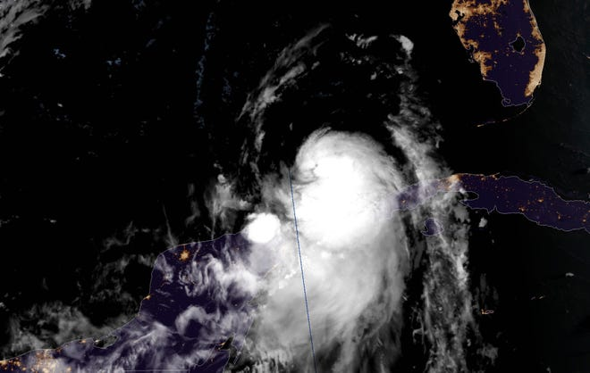 Hurricane Laura as of 7:15 a.m. CT, Aug. 25