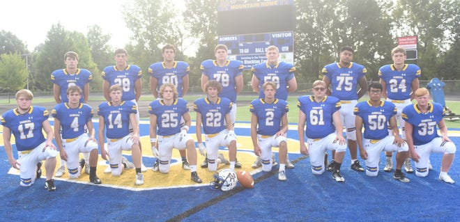 The Mountain Home Bombers have 16 seniors on this year's football roster.