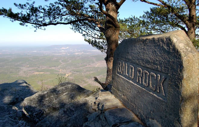 The view from Bald Rock in Cheaha State Park.