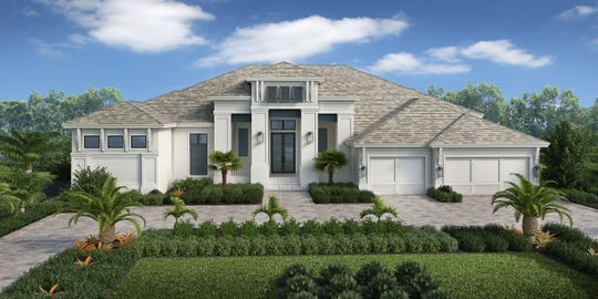 Rendering of  the 4,590 square foot residence under construction by Stock Custom Homes at 1607 Crayton Road.