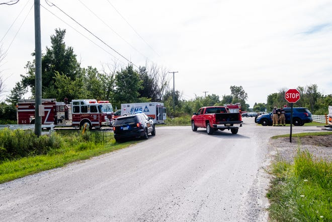 Crews responded to a crash at the intersection of Broadbridge and Starville roads in Cottrellville Township shortly after 4 p.m. Tuesday, Aug. 25, 2020. A trooper at the scene said information was not immediately available.