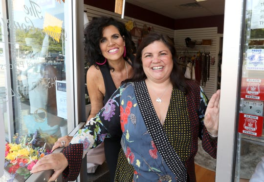 Christine Hogan, left, and her sister Andrea Longueira are owners of The Designer Consigner NY in Bardonia Aug. 25, 2020.