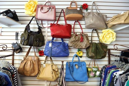 Handbags at The Designer Consigner in Bardonia Aug. 25, 2020.