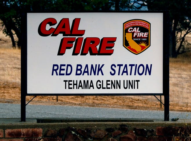 The Red Bank Station off Red Bank Road is one of the stops for firefighters on their way to the Elkhorn Fire in western Tehama County.