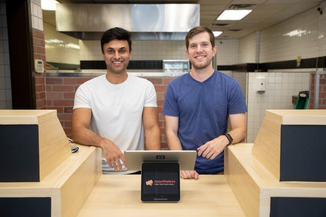 Business partners Tarun Gupta, left, and Drew Rudolph are ready to open Naantheless.