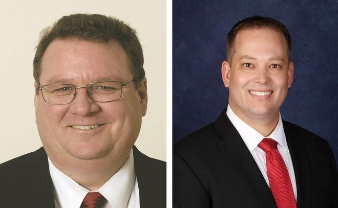 Phil Cox (left) and Brett Taylor (right) were appointed to the Visalia City Council on Monday. Each candidate ran unopposed so no municipal elections will be held in a cost-saving measure.