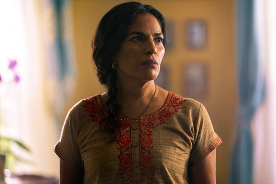 """Sarita Choudhury plays a mom who's sure her daughter's new boyfriend is connected to her own dark past in the Blumhouse thriller """"Evil Eye."""""""