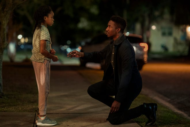"""A single father (Mamoudou Athie, with Amanda Christine) undergoes an experimental treatment after losing his wife and memory in a car accident in """"Black Box."""""""