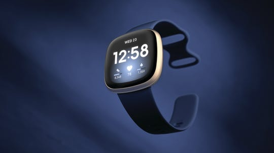 Fitbit Versa 3 (pictured) and Fitbit Sense will use the same magnetic charger.