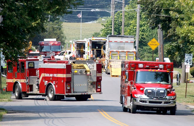 As seen in the photo looking north on Cottage Street, Cottage Street between the U.S. 250 bypass and East 12th Street was closed Wednesday due to a gas leak in the 1800 block of Cottage Street.