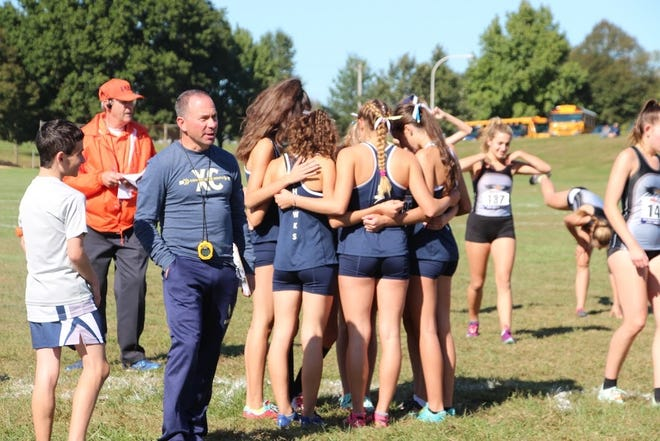 Council Rock High School South assistant girls cross country coach Michael Gross.