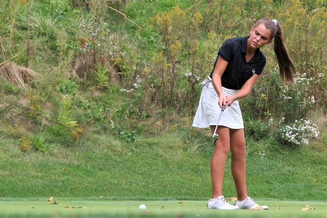 Quaker Valley's Eva Bulger won the WPIAL Class 2A individual  girls golf championship last year as a freshman.