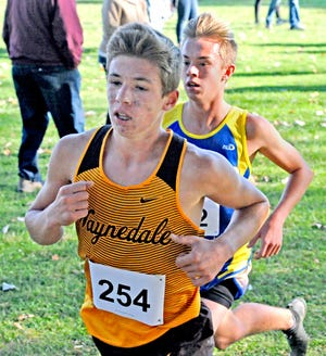 Waynedale's Jonathan Varner (front) and Wooster's Ashton Dunlap will be two of the contenders at their respective conference meets Saturday.
