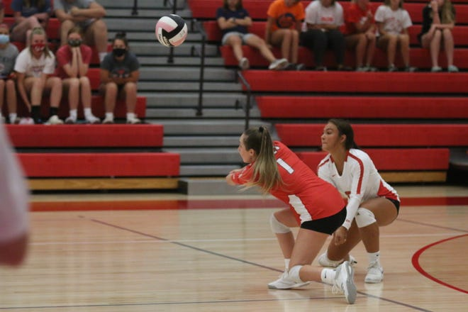 Isabelle Wood during the season-opening match against Southeast Polk on Tuesday, Aug. 25.