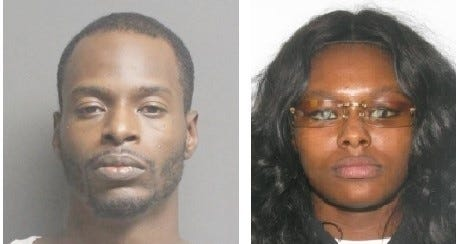 Hakkem Thomas, 31, of Petersburg, left, was picked up in Boston Tuesday on a traffic charge and is awaiting extradition to Chesterfield County. Police are still looking for the second suspect, Desiree S. Horton, 21, also of Petersburg.