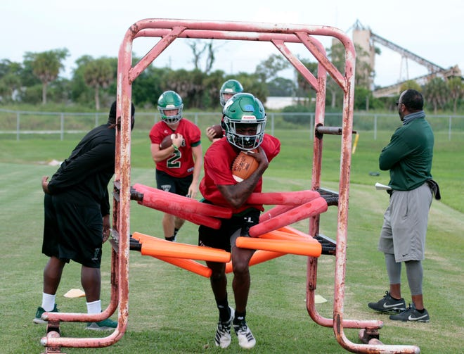 The Venice High football team is preparing for its season opener Friday at home against IMG Academy.