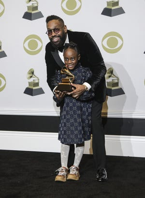 PJ Morton backstage at the 62nd Grammy Awards at Staples Center in Los Angeles on Jan. 26.