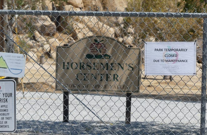 Horsemen's Center Park on Highway 18 in Apple Valley has been closed temporarily due to an inoperative well.