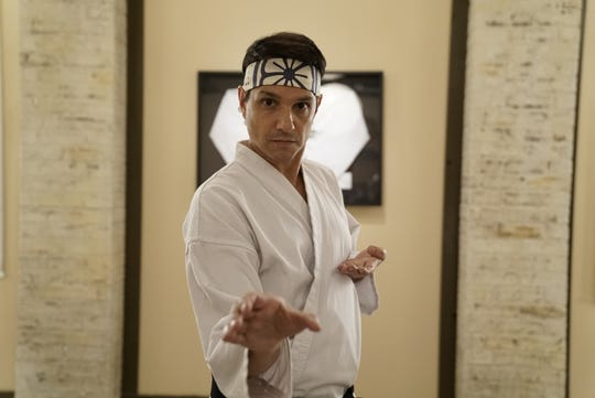 """Ralph Macchio in a scene from the first season of """"Cobra Kai,"""" now streaming on Netflix."""