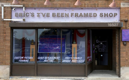 The outside of Eric Vaughn's, Eric's I've Been Framed Shop on Livernois Avenue in Detroit on Wednesday August 26, 2020. August is National Black Business Month.