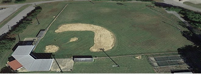 An image from Google Earth shows Park Field in Henderson's Atkinson Park. Henderson Flash owner Clay Bolin proposed to the city commission a major renovation to the field and a long-term lease between his team and the city.