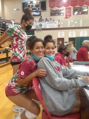 Hailey and Kiara Petersen are seniors on the Lawrence North volleyball team. Kiara is a team manager, unable to play due to epilepsy.