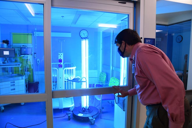 Hospitals limited visitors to birthing units during the pandemic. This is a room at East Tennessee Children's Hospital.