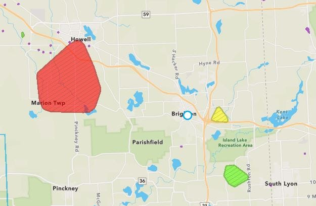 Thousands of DTE Energy customers are without power Wednesday, Aug. 26, 2020.