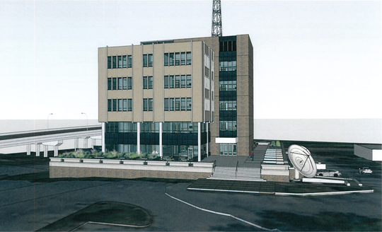 This rendering shows the exterior of a proposed mixed-use development on Union Avenue Extended south of Poplar Avenue.