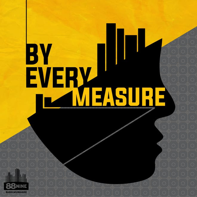 "Logo for ""By Every Measure"" podcast"