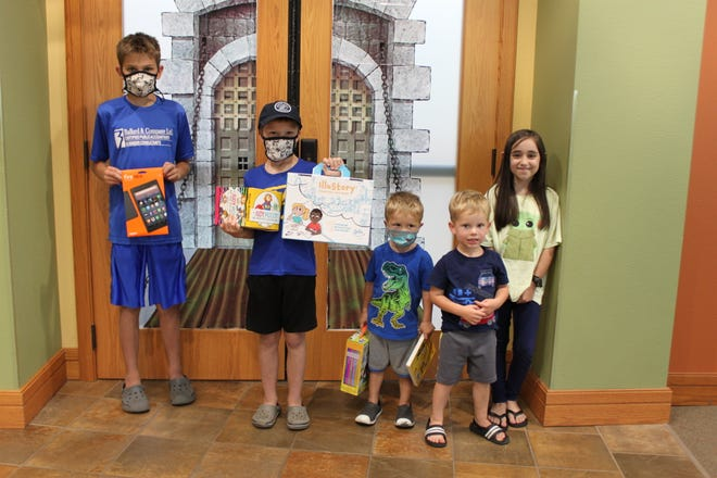 Congratulations to the Summer Reading Program grand prize winners, some of whom are pictured here.