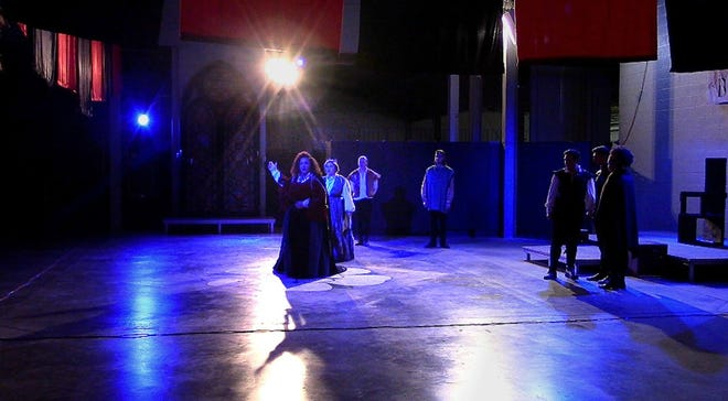 "Fifth Cellar Productions' performance of ""Richard III"" at Madjax in 2019."