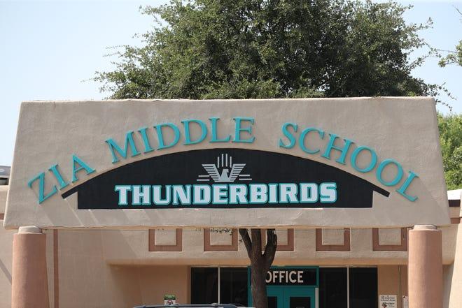 Zia Middle School on Wednesday, Aug. 26, 2020.