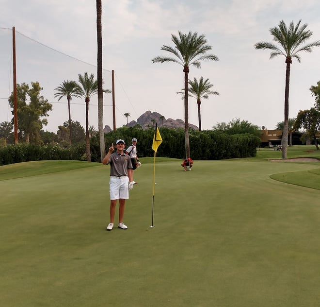 Ross Kocsis after his hole in one.