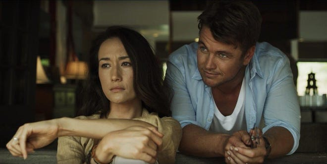 """""""Death of Me"""" (Oct. 2, video on demand): Maggie Q and Luke Hemsworth star in the horror thriller as a vacationing couple on an island off the coast of Thailand who wake up hungover, with no memory of the night before, and find footage on their camera of him appearing to murder her."""