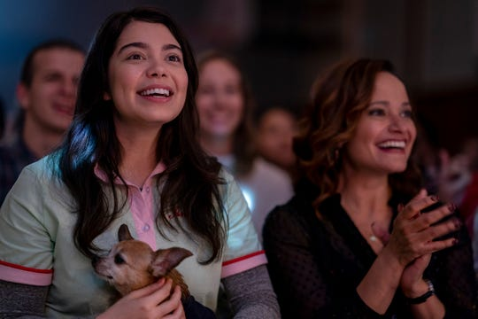 "Auli'i Cravalho (left, with Judy Reyes) learns to lean on her friends in the Netflix tearjerker ""All Together Now."""