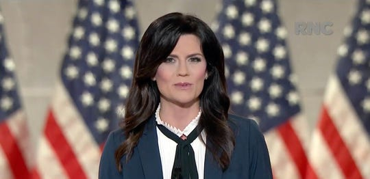 Cissie Graham Lynch, granddaughter of the late Rev. Billy Graham, speaks during the Republican National Convention at the Mellon Auditorium in Washington, D.C.