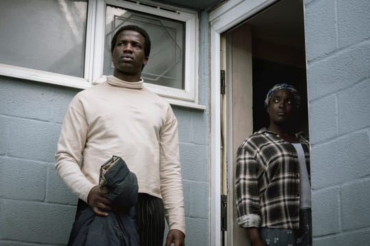 """In """"His House,"""" Ṣọpẹ Dìrísù (left) and Wunmi Mosaku play a couple who escape war-torn South Sudan and have trouble adjusting to their new life in a small English town."""