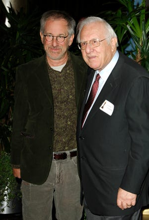 In this file photo, Steven Spielberg and father Arnold attend the 78th Annual Academy Awards Nominees Luncheon at Beverly Hilton Hotel in Beverly Hills, California, United States.
