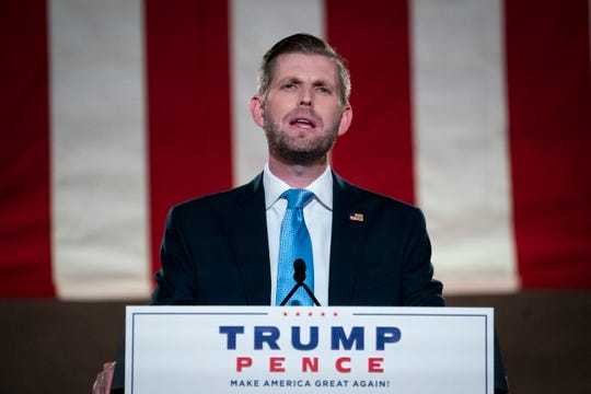 Eric Trump, son of U.S. President Donald Trump, pre-records his address to the Republican National Convention at the Mellon Auditorium on August 25, 2020 in Washington, DC. 603791